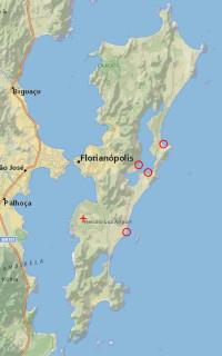 Google Maps of Florianópolis