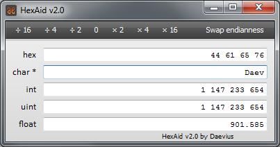 HexAid screenshot
