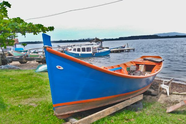 Typical fishing boat in Brazil